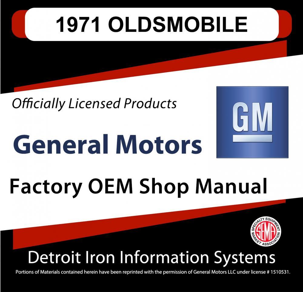 1971 Oldsmobile Cutlass 442 Delta 88 98 Toronado Shop Manuals 1965 Olds Wiring Diagram Parts Books Cd