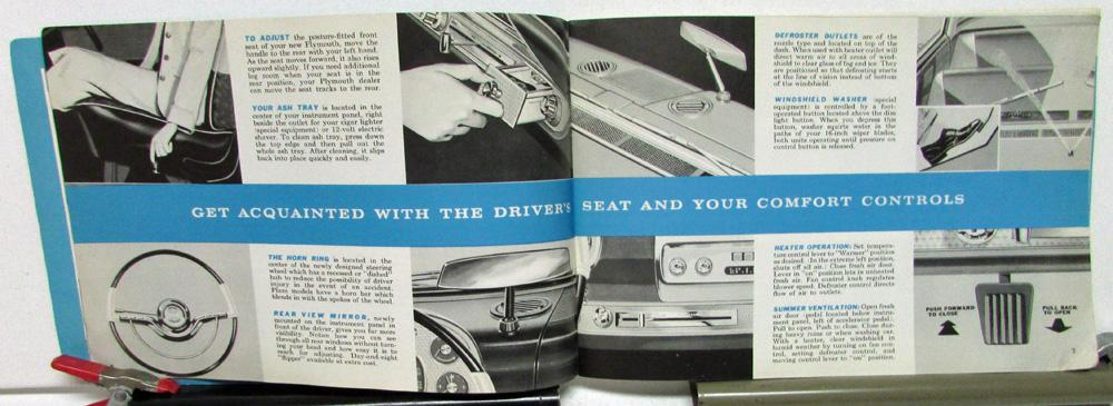 1958 plymouth owners manuals care operation instructions fury suburban rh autopaper com Instruction Manual Example Manuals in PDF