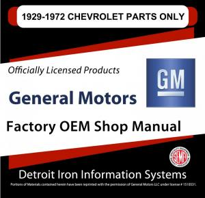 1929 1939 1949 1959 1969 1972 Chevrolet Auto-Truck Parts Manuals CD