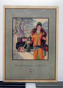 1927 Chevrolet Imperial Landau Sales Brochure