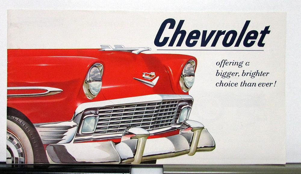 1956 Chevrolet Models Bel Air 150 210 Sales Brochure Specifications
