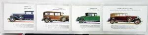 1930 Cadillac Motor Cars Sales Brochure With 4 Plates Canadian Market Original