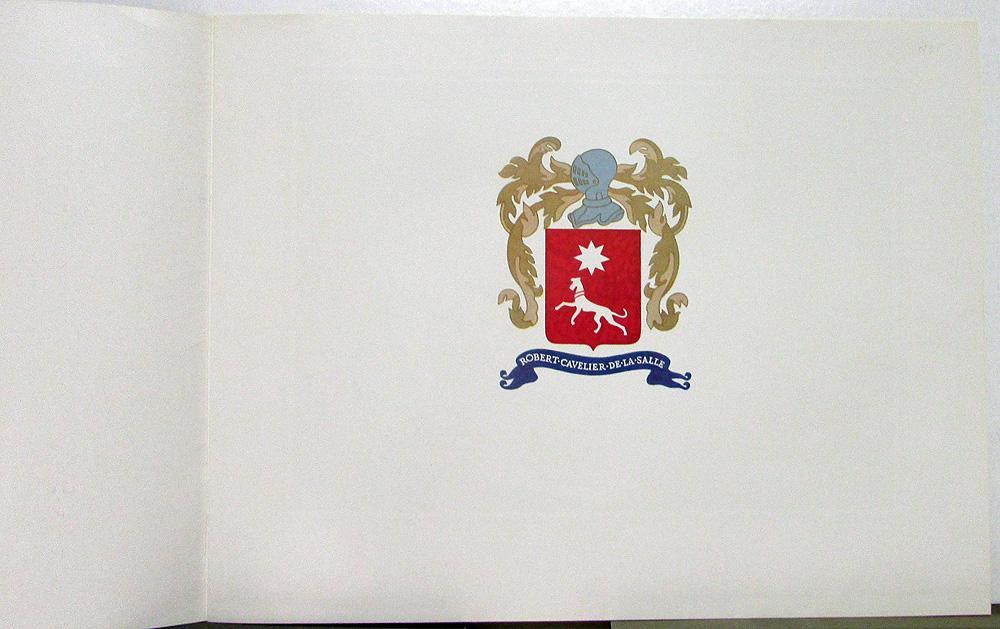 1935 Cadillac LaSalle Color Presitge Sales Brochure With Envelope Original