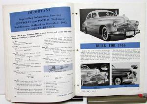 1946 GM Products Review & Service News Industry Magazine Feb Edition Canadian