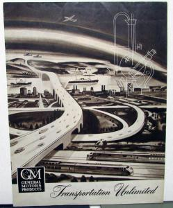 1950 GM Canadian Auto Show Hand Out Product & New Models Information News