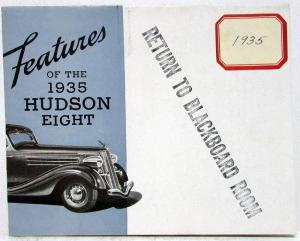1935 Hudson Features of the Eight Sales Folder Mailer