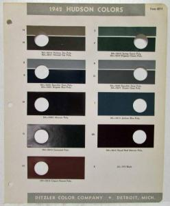 1942 Hudson Color Paint Chips by Ditzler Color Company