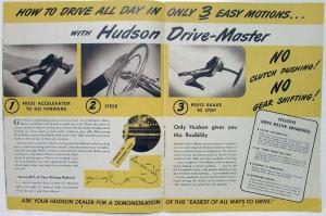 1948 Hudson Here Today The Car You Have Been Told Was Years Away Sales Brochure