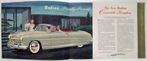 1949 Hudson Convertible Brougham Nothing Less Than The Finest Sales Folder