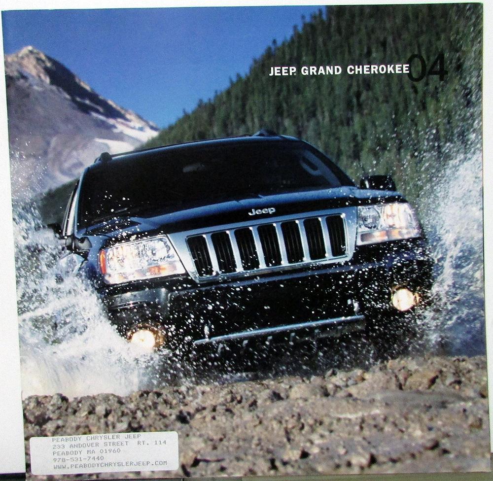 2004 Jeep Dealer Prestige Sales Brochure Grand Cherokee Features Large