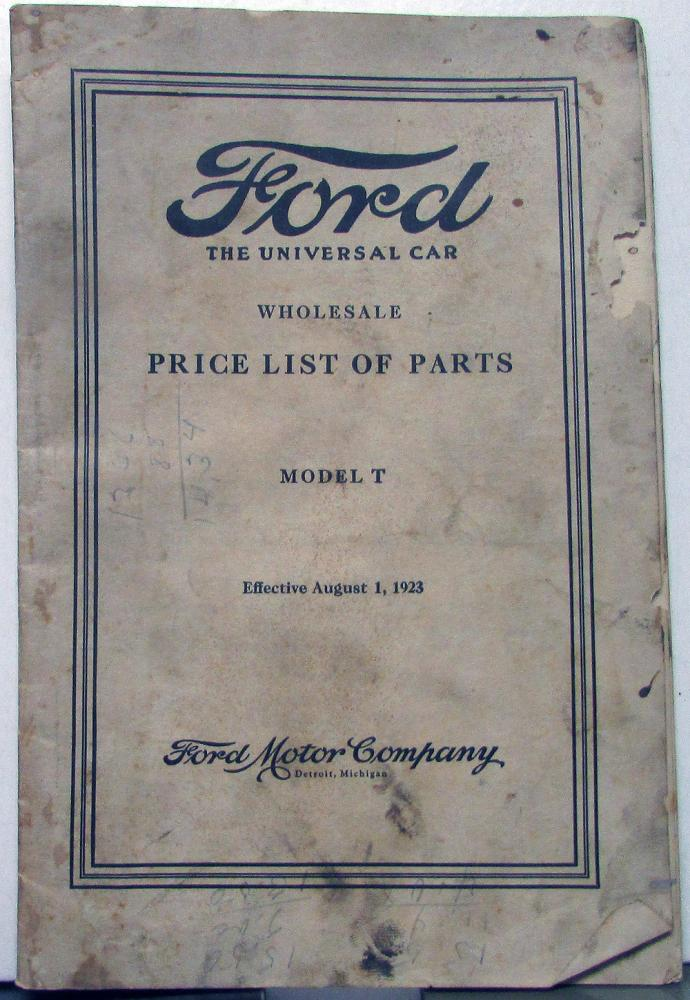 Ford Model A Parts List : Thru ford model t wholesale parts list roadster
