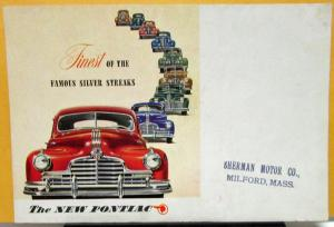 1946 Pontiac Six Eight 6 8 Coupe Color Sales Folder Mailer Original
