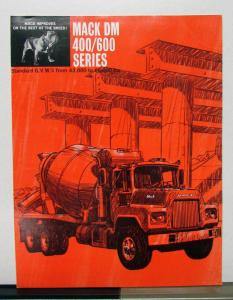 1966 Mack Truck DM 400 600 Series Sales Brochure