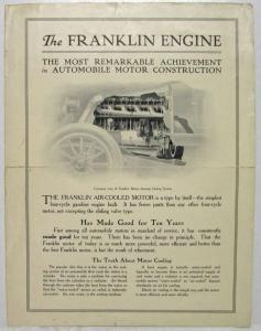 1912 Franklin Engine Sales Folder