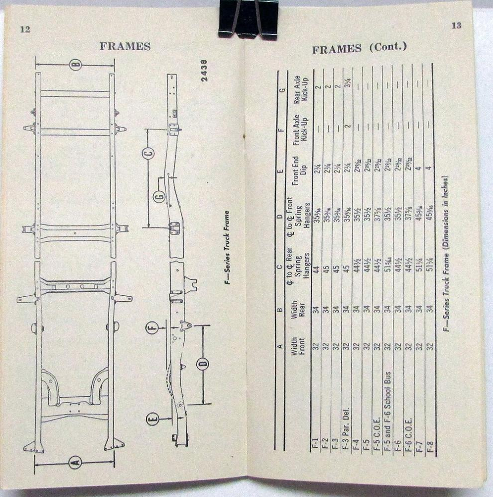 1951 Ford Service Specifications Book Passenger Cars F Series 352 Engine Diagram Trucks Original