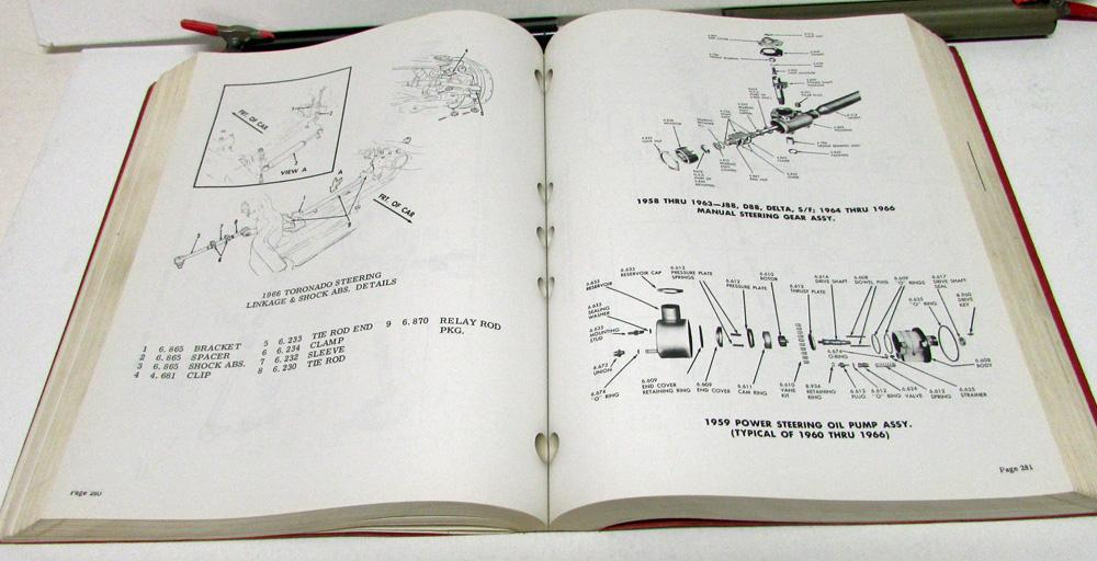 1966 Oldsmobile Parts Book Original F85 Cutlass Dynamic