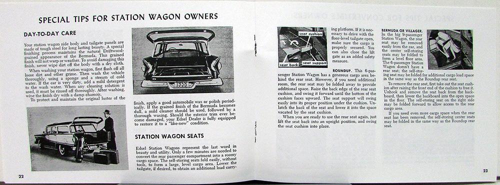 1958 edsel ranger pacer corsair citation wagon owners manual rh autopaper com Corvette Owners Manual User Manual PDF