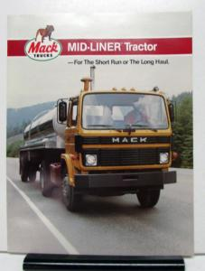 1984 1985 Mack Truck Mid Liner Series Model MS300T Sales Folder