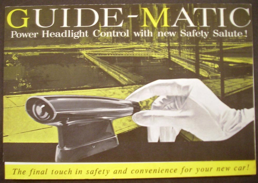 1960 Pontiac Guide Matic Power Headlight Control Safety Salute GM Sales Brochure