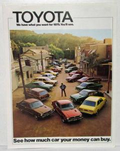 1975 Toyota We Have What You Want Full Line Sales Folder