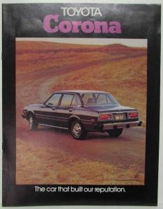 1976 Toyota Corona The Car That Built Our Reputation Sales Brochure