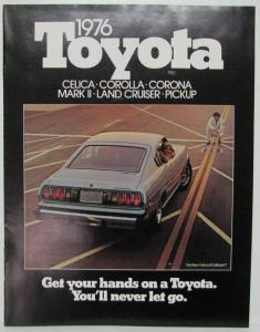 1976 Toyota Get Your Hands On Full Line Sales Brochure