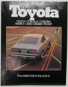 1976 Toyota You Asked For It Full Line Sales Brochure