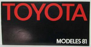 1981 Toyota Full Line Sales Brochure - French Market