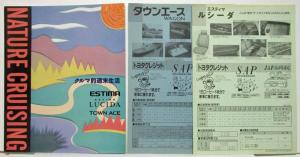 1992 Toyota Nature Cruising Sales Brochure w Price Sheets - Japanese Text