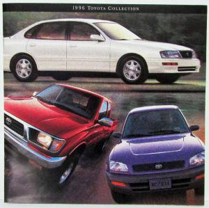 1996 Toyota Collection Sales Brochure RAV4 Avalon Corolla Supra Land Cruiser