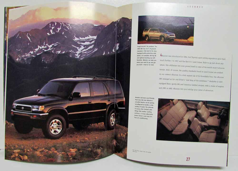 Toyota collection sales brochure camry corolla celica rav4 4runner 1997 toyota collection sales brochure camry corolla celica rav4 4runner t100 sciox Choice Image
