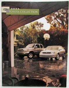 2000 Toyota Collection Flip Sales Brochure Solara Corolla RAV4 Tundra Echo MR2