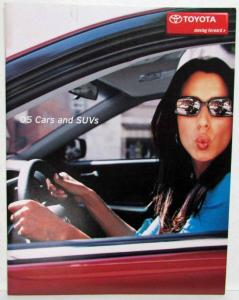2005 Toyota Cars SUVs & Trucks Flip Sales Brochure Corolla Matrix Prius 4Runner