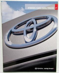 2007 Toyota Hybrids Cars SUVs & Trucks Sales Brochure FJ Cruiser Corolla 4Runner