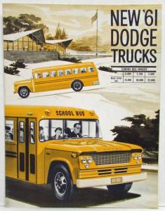1961 Dodge Trucks School Bus Chassis Sales Folder