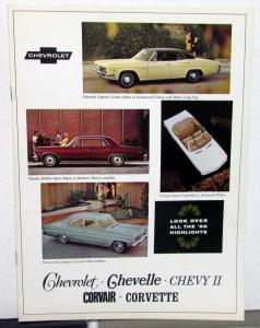1966 Chevrolet Chevelle Chevy II Corvair Corvette Canadian Sales Brochure