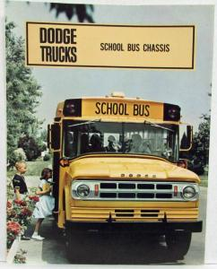 1968 Dodge Trucks School Bus Chassis Sales Folder