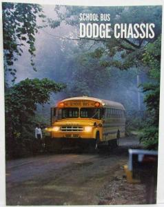 1969 Dodge Trucks School Bus Chassis Sales Folder