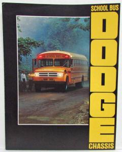 1970 Dodge Trucks School Bus Chassis Sales Folder