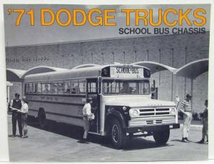 1971 Dodge Trucks School Bus Chassis Sales Folder
