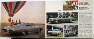 1968 Chevrolet Full Line Q&A Luxury Sport Sedans Wagons Sales Brochure Original