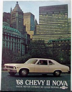 1968 Chevrolet Chevy II Nova & SS Color Sales Brochure Original Revision 1