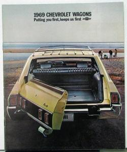 1969 Chevy Wagons Kingswood Townsman Concours Greenbrier Nomad Brochure