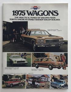 1975 Chevrolet Wagons Caprice Impala Bel Air Biscayne Canadian Sales Brochure
