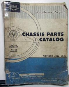 1955-58 Studebaker 1957-58 Packard Dealer Chassis Parts Catalog Book Orig