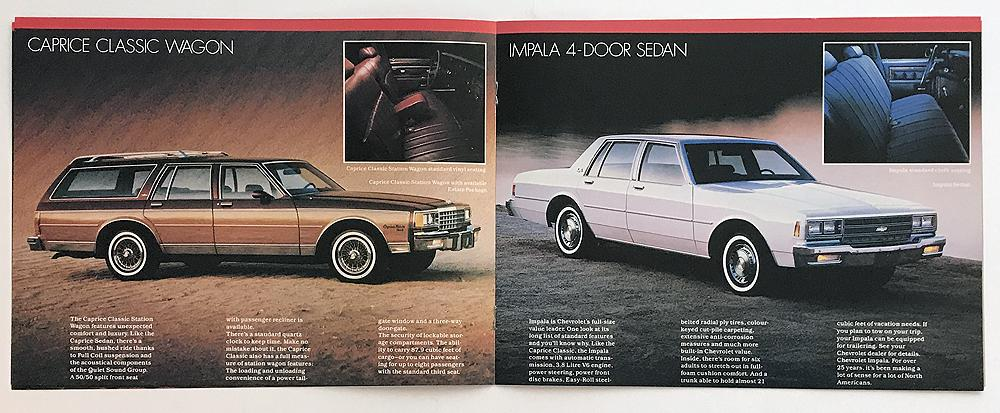 1983 Chevrolet Caprice Classic and Impala Canadian Sales Brochure