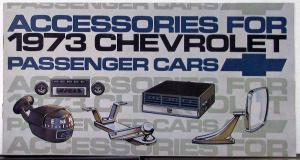1973 Chevrolet Passenger Car Accessories Sales Brochure Original