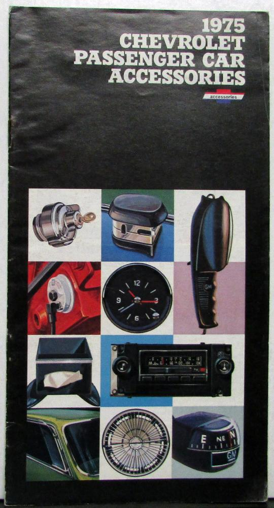 1975 Chevrolet Passenger Car Accessories Sales Brochure Original