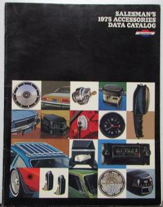 1975 Chevrolet Salesmans DEALER ONLY Accessories Data Catalog Cars & Trucks