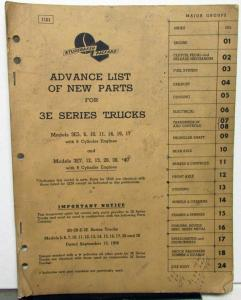 1957-58 Studebaker 3E Truck Dealer Advance Parts Catalog Book Pickup HD Original